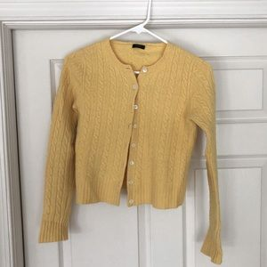 J. Crew wool/cashmere mixed cardigan size pM